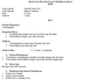 Download bahasa 1-6 sd kelas rpp dan inggris silabus