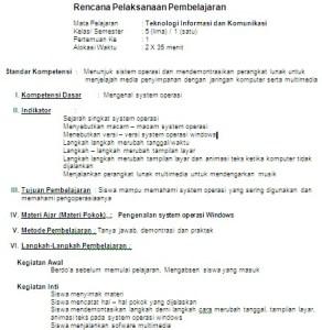 RPP Teknologi Informasi dan Komunikasi SD/MI