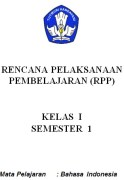 RPP bahasa indonesia SD
