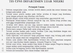 cpns departemen luar negeri