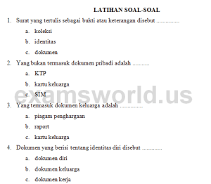preview soal IPS kelas 2 SD