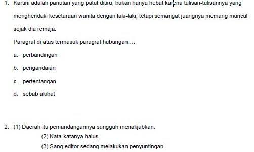 Soal Latihan Ujian Nasional SMP/MTs 2012
