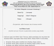 Soal Seleksi Olimpiade Astronomi SMA