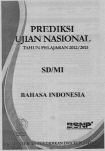 Prediksi ujian nasional SD MI 2013