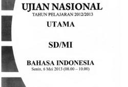 Soal Ujian Nasional / UASBN SD tahun 2013