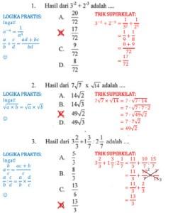 Trik Super Kilat Matematika SMP