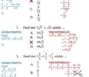 Soal dan Pembahasan UN Matematika SMP 2013