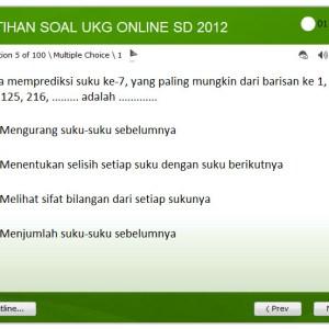 Aplikasi Soal Latihan UKG SD 2012 Online