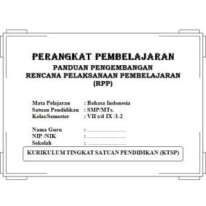 Perangkat Pembelajaran Bahasa Indonesia SMP KTSP
