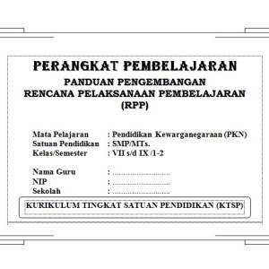 Perangkat Pembelajaran PKN SMP KTSP