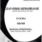 Naskah Soal Ujian Sekolah Madrasah SD Bahasa Indonesia 2015