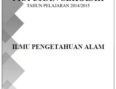 Soal Pra Ujian Sekolah SD/MI 2015