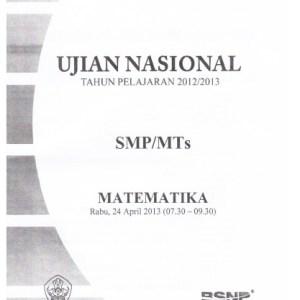 Naskah Soal UN SMP Matematika 2013