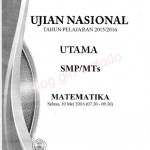 Naskah Soal UN SMP Matematika 2016