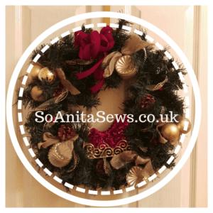 web address in xmas wreath