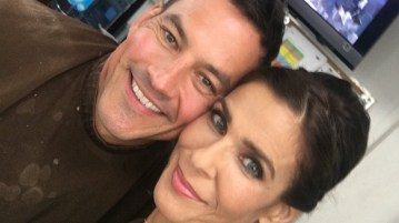 TC in makeup room with Kristian Alfonso