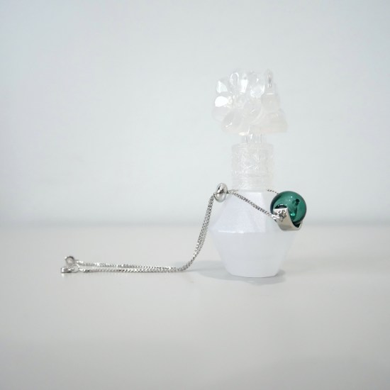 emerald silver essential oil bracelet
