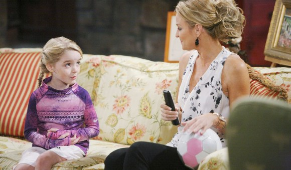 "Sharon Case, Mckenna Grace ""The Young and the Restless"" Set  CBS television City Los Angeles 04/01/14 © sean smith/jpistudios.com 310-657-9661 Episode # 10401 U.S. Airdate 04/30/14"