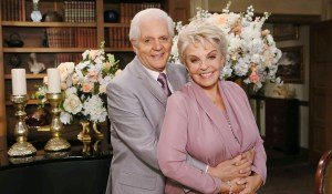 "Susan Seaforth Hayes, Bill Hayes ""Days of our Lives"" Set Wedding NBC Studios Burbank 09/29/15 © Howard Wise/jpistudios.com 310-657-9661"