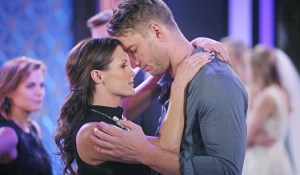 "Melissa Claire Egan, Justin Hartley ""The Young and the Restless"" Set  CBS television City Los Angeles 12/16/15 © Sean Smith/jpistudios.com 310-657-9661 Episode # 10844 U.S. Airdate 01/25/15"