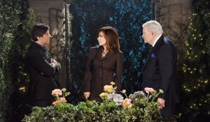 "Vincent Irizarry, John Aniston, Lauren Koslow ""Days of our Lives"" Set NBC Studios Burbank 04/05/16 © XJJohnson/jpistudios.com 310-657-9661 Episode # 12915 U.S.Airdate 09/08/16"