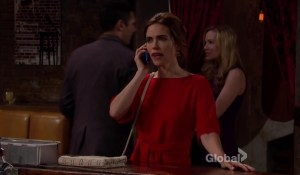 Victoria talks to Billy on the phone-CBS