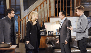 Carly tells Sonny, Michael and Chas what happened-GH-JJ