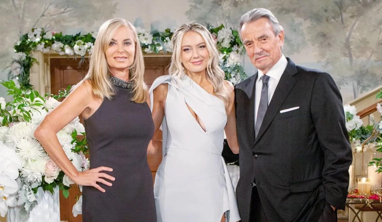 Ashley, Abby, Victor wedding Y&R