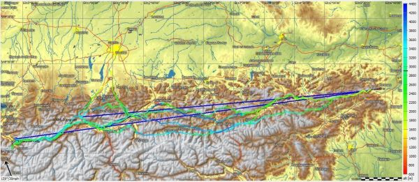 Mathias Schunk 1750Km FlightTrace