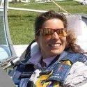 Kathrin as glider pilot.