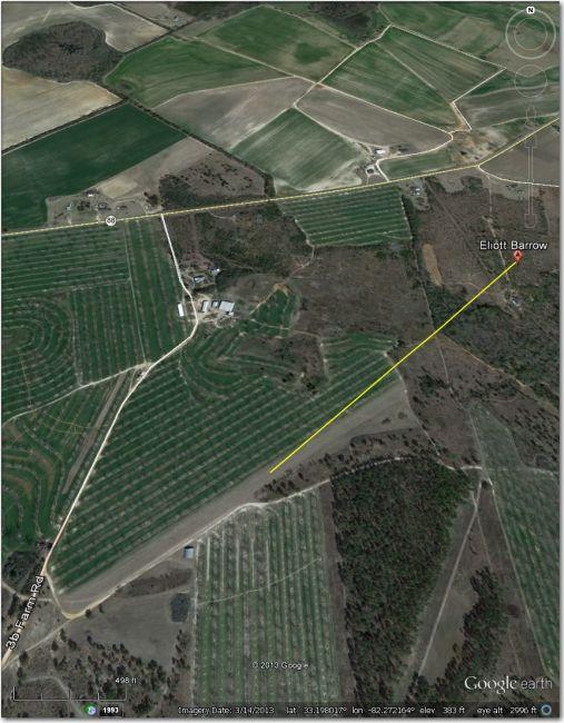 Waypoint symbol is offset approximately .5 mi NE of airstrip