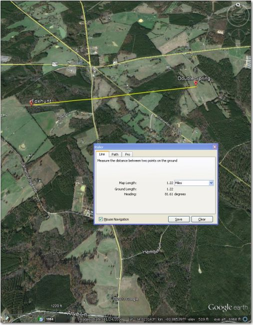 Double Spring Airstrip 1.2 mi east of Foxhunt