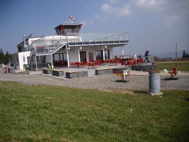 the glider schools new buildings on the Wasserkuppe