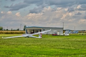 two gliders one hangar