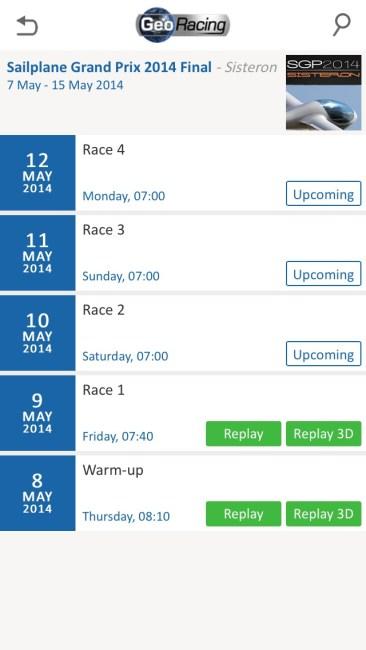 GeoRacing iPhone Screenshot - SGP Races