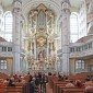 Interiour of the completely destroyed in WW-2 and restored church in Dresden centre thumbnail