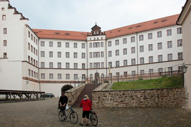 Main square and building at Colditz  castle POW WW-2 camp