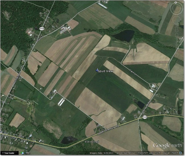 Spud View Airstrip:  Nothing there