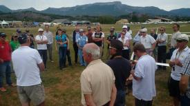 Briefing at the grid