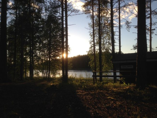 Finland: On the longest day the sun does not dissappear behind the horizon.