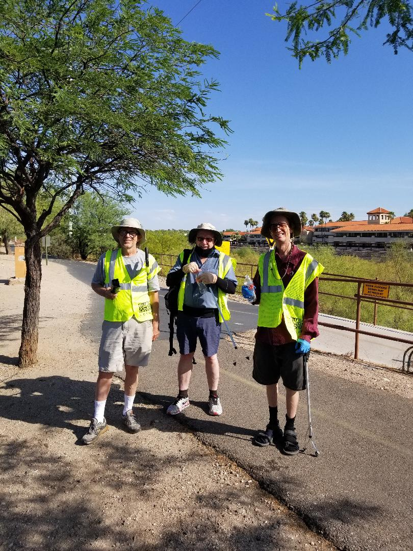 Volunteers with Southern Arizona NORML July Highway Cleaning