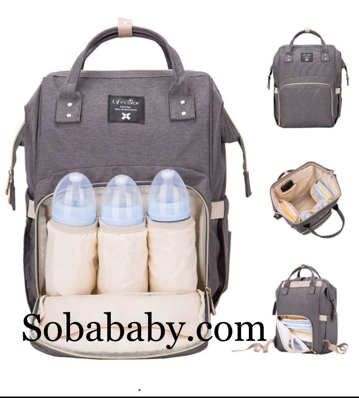 sobababy gray diaper bag