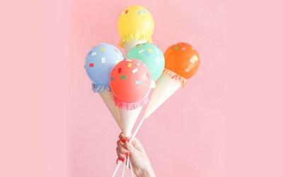 Faça você mesmo: Balões em forma de sorvete