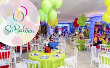 Balão de gás hélio é a nova tendência na decoração de festas infantis