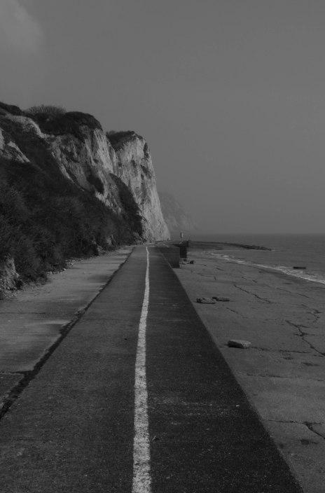 White cliffs at the Warren, Folkestone. Copyright Fiona Michie.