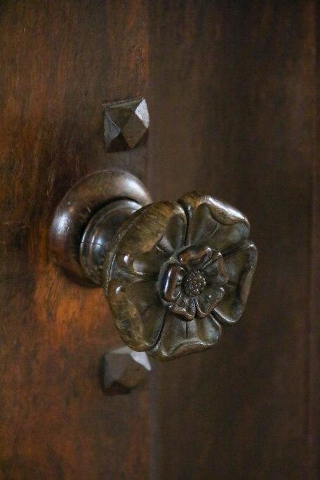 Door Handle, Felbrigg Hall. Copyright Fiona Michie.