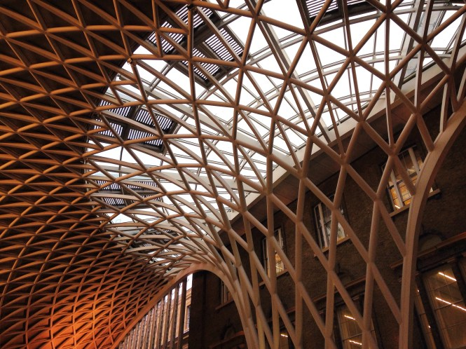 Day 4, The fabulous roof at King's Cross Station.
