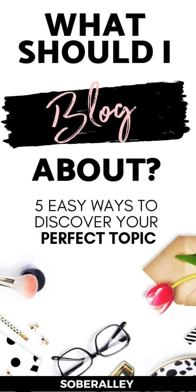 """If you've ever wondered, """" What should I blog about ?"""", don't miss this post! It has great tips for helping you find the perfect blog niche."""