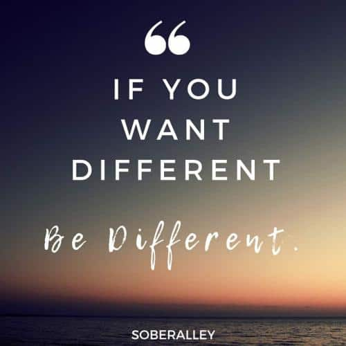 Intermittent fasting quote: If you want different, be different. Intermittent fasting works for weight loss, but you must do your part. Eat clean. Workout. Exercise discipline and self-control.