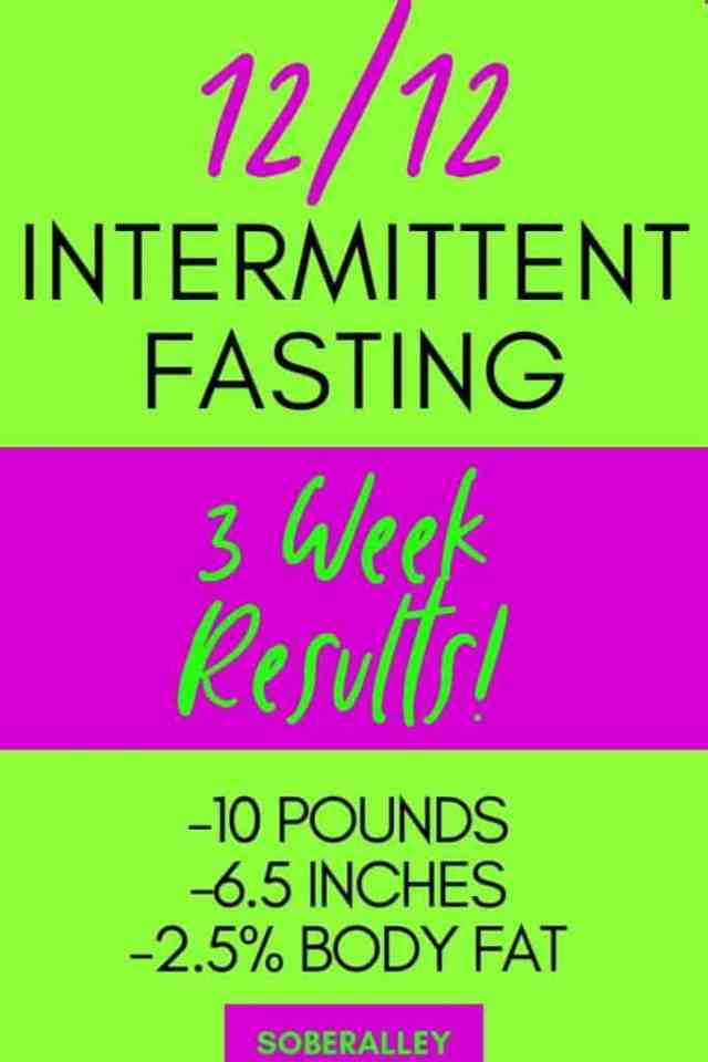 View my intermittent fasting weight loss results for 3 weeks of intermittent fasting!